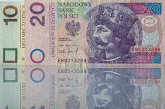 Banknotes from Poland Stock Photo