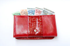 Banknotes in purse Stock Photos