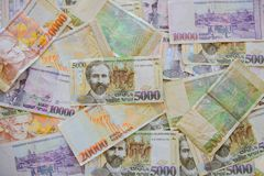 Banknotes of the Republic of Armenia. The Banknotes of the Republic of Armenia stock photo