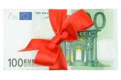 Banknotes with Ribbon Royalty Free Stock Image