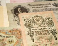 Banknotes of Russian Empire Royalty Free Stock Photos