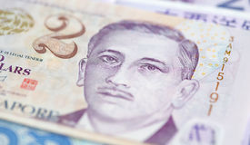 Banknotes. Singapore 2 dollars note closeup Stock Photo
