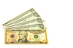 Banknotes ten dollars Royalty Free Stock Image