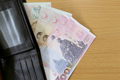 Banknotes of Thailand in wallet. Stock Photography