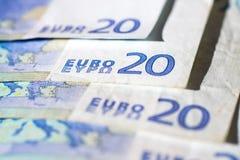 Banknotes of twenty euro Stock Photo