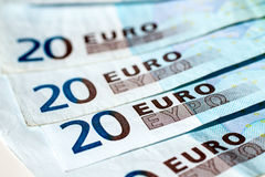 Banknotes of twenty euro Stock Photo