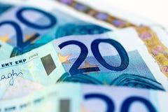 Banknotes of twenty euro Royalty Free Stock Photos