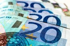 Banknotes of twenty euro Stock Images