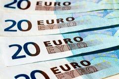 Banknotes of twenty euro Royalty Free Stock Images