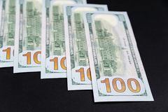 Different banknotes US dollars. royalty free stock images