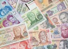 Banknotes. Variety of South American banknotes Royalty Free Stock Photo