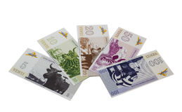 Banknotes of Ventspils Royalty Free Stock Photos