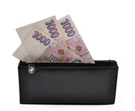 Banknotes in wallet Stock Photography