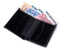 Banknotes in a wallet Stock Images