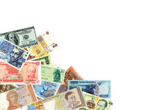Banknotes of the world of different times. Royalty Free Stock Photography