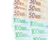 banknotu biel euro nadmierny Obraz Stock