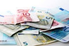 banknotu biel euro nadmierny Zdjęcie Royalty Free