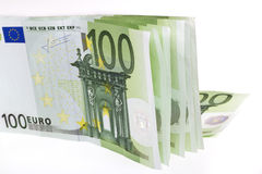 banknotu biel euro nadmierny Fotografia Royalty Free