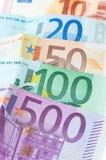 banknotu biel euro nadmierny Zdjęcie Stock