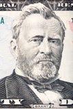 banknotu czarny dolarów pięćdziesiąt dotacja odizolowywał obrazka portret s Ulysses my biały Grant na pięćdziesiąt dolarowym rach zdjęcie royalty free