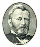 banknotu czarny dolarów pięćdziesiąt dotacja odizolowywał obrazka portret s Ulysses my biały Grant portreta wycinanka zdjęcia stock