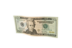 banknotu dolar dwadzieścia Fotografia Royalty Free