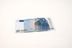 banknotu euro dwadzieścia Zdjęcia Stock