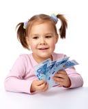 banknotu euro papier dziewczyny trochę papier Zdjęcia Stock