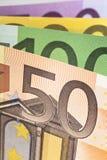 banknotu euro pięćdziesiąt Obrazy Royalty Free