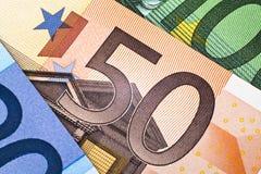 banknotu euro pięćdziesiąt Zdjęcie Stock