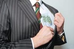 banknotu mężczyzna Obraz Royalty Free
