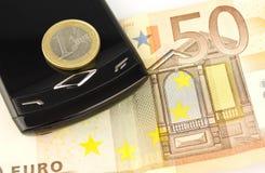 banknotu pieniądze menniczy euro Fotografia Stock