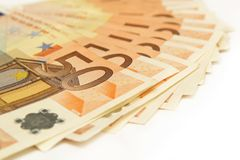 banknotów 50 euro Obraz Stock