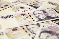 Banknoty czeskie korony Obraz Royalty Free