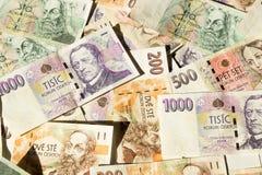 Banknoty czeskie korony Zdjęcia Royalty Free