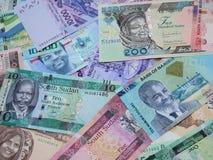 Banknoty różnorodni kraje afrykańscy w rozmaitości Zdjęcie Stock