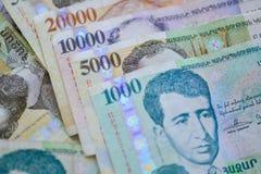 Banknoty republika Armenia obrazy royalty free