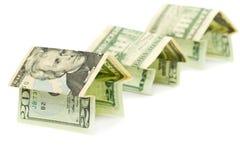 banknoty stwarzać ognisko domowe robią nowy Fotografia Stock