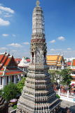 Bankok, Thailand: Soaring Prang at Temple of Dawn Stock Photo