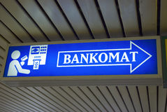 Bankomat Zeichen stockbilder