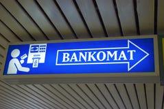 bankomat znak Obrazy Stock