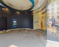 Bankomaten Barclays Bank på Colmore ror, Birmingham Arkivbilder