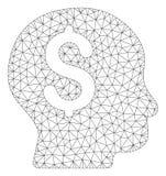 Bankowiec siatki sieci Wektorowy model ilustracji