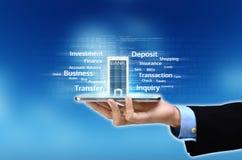 Bankowości mobilny pojęcie Obrazy Stock