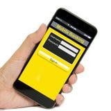 Bankowości mobilny pojęcie Zdjęcia Royalty Free