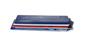 bankowości kart kredyt Zdjęcia Stock