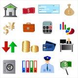 Bankpictogrammen Royalty-vrije Stock Foto