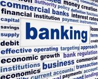 Bankrörelseaffären uttrycker begreppsmässig design Royaltyfri Fotografi