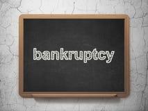 Bankrörelsebegrepp: Konkurs på svart tavlabakgrund Royaltyfri Bild