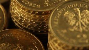 Bankrörelsen, affär, finans och pengartema stock video